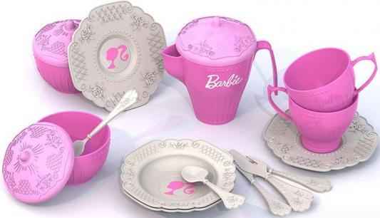 Чайный набор Нордпласт Барби, 18 предметов 636 нордпласт набор кухонной и чайной посудки барби 21 предмет нордпласт