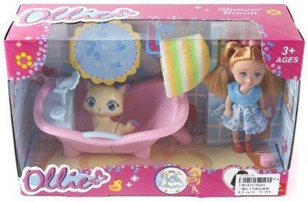 Кукла Shantou Gepai Ollie 12 см с питомцем