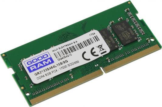 Оперативная память для ноутбука 8Gb (1x8Gb) PC4-17000 2133MHz DDR4 SO-DIMM CL15 Goodram GR2133S464L15S/8G
