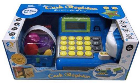 Игровой набор Shantou Gepai Детская касса Cash Register с набором продуктов звук
