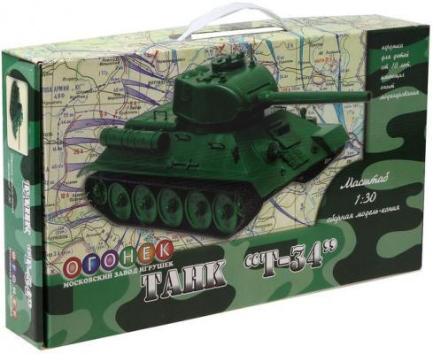 "Танк Огонек ""Т-34"" 1:30 зеленый"