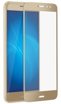 Защитное стекло DF hwColor-05 для Huawei Nova Plus с рамкой золотистый цена и фото