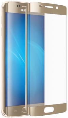 Защитное стекло DF sColor-06 для Samsung Galaxy S7 Edge 3D с рамкой золотистый металлик