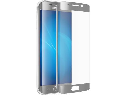 Защитное стекло DF sColor-06 для Samsung Galaxy S7 Edge 3D с рамкой серебристый металлик