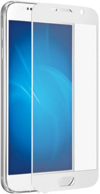 Защитное стекло DF sColor-08 для Samsung Galaxy S7 с рамкой белый