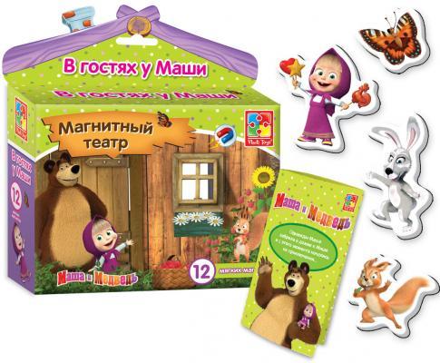 """Магнитный театр Vladi toys """"Маша и медведь: В гостях у Маши"""" 12 предметов VT3206-22"""