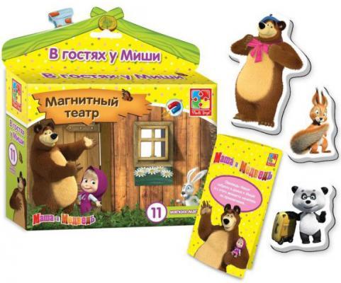 """Магнитный театр Vladi toys """"Маша и Медведь: В гостях у Миши"""" 11 предметов VT3206-21"""