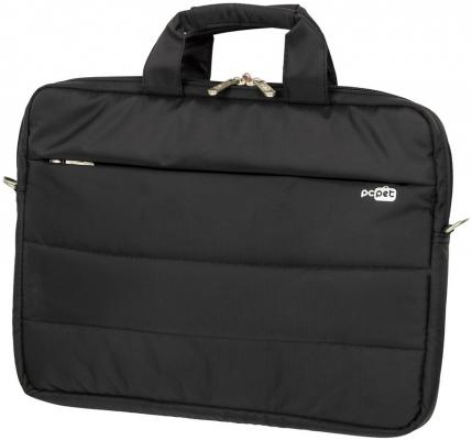 Сумка для ноутбука 15.6 PCPet PCP-15601BK нейлон черный сумка для ноутбука 15 6 pc pet pcp sl9015n