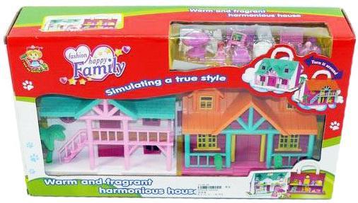 Дом для кукол Shantou Gepai Счастливая семья, с мебелью