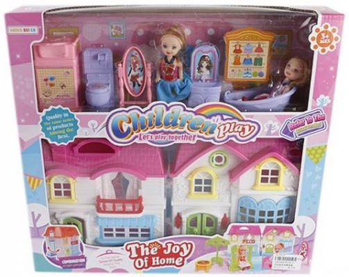 Дом для кукол Shantou Gepai Вилла с аксессуарами и куклами