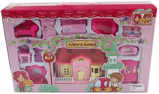 Дом для кукол Shantou Gepai Вилла розовая с набором мебели  234