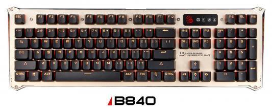 Клавиатура проводная A4TECH Bloody B840 USB USB черный