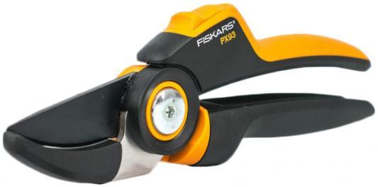 Сучкорез плоскостной Fiskars PowerGear PX93 большой черный/оранжевый 1023629 секатор fiskars powergear p 91 111510