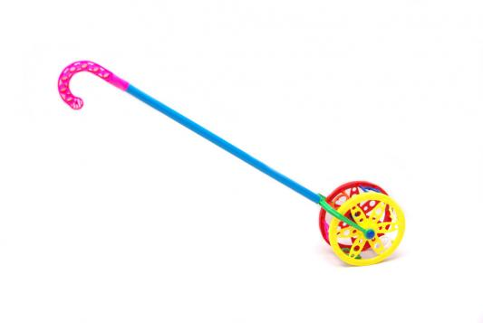 Каталка на палочке Karolina Toys Колесо пластик от 1 года разноцветный 40-0032 каталка на палочке s s toys веселая акула 28 5х31х10см