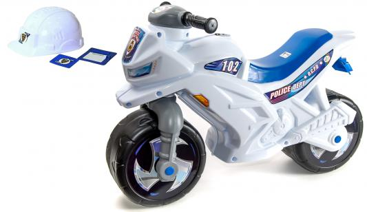 Каталка-мотоцикл Orion со шлемом, значком и протоколом белый от 1.5 лет пластик