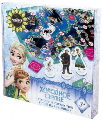 Настольная игра ходилка Десятое королевство Холодное сердце - Успей на вечеринку 01886 103490 настольная игра развивающая десятое королевство времена года 00046