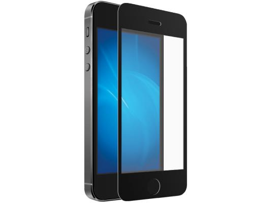 Защитное стекло ударопрочное DF iColor-02 (black) для iPhone 5S iPhone 5 0.33 мм durable super thin aluminum alloy bumper frame case for iphone 5 5s black