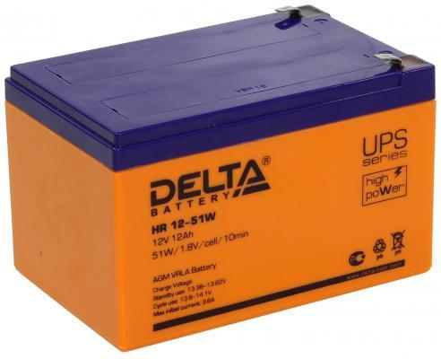 Батарея Delta HR 12-51W 12Ач 12В цена