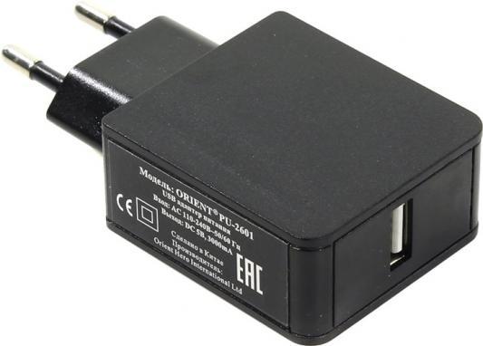 Сетевое зарядное устройство ORIENT PU-2601 USB 3А черный