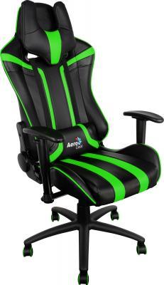 Кресло Aerocool AC120-BG черно-зеленый 4710700959664