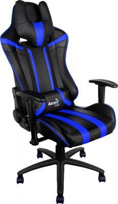 Кресло Aerocool AC120-BB черно-синий 4710700959671