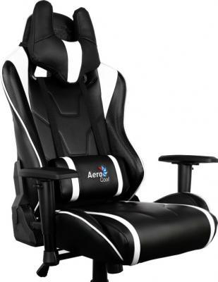 Кресло компьютерное игровое Aerocool AC220-BW бело-черный 4710700959695