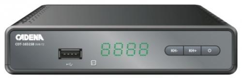 Тюнер цифровой DVB-T2 Cadena CDT-1651SB