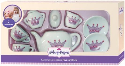 Купить Набор посуды Mary Poppins Корона, 9 предметов фарфоровая 453016, белый, Игрушечная посуда