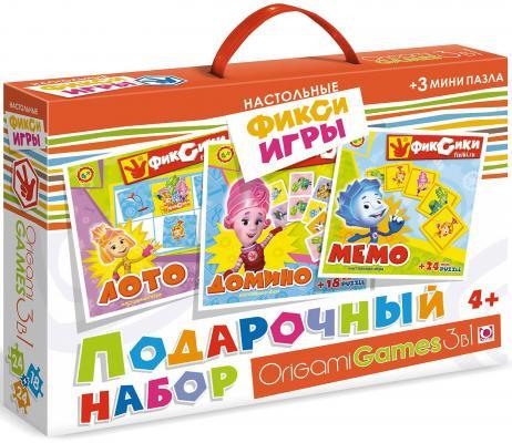Купить Набор для игры ОРИГАМИ набор игр Фиксики 3в1, Размер коробки 32 х 23 х 6 см., Развивающие настольные игры