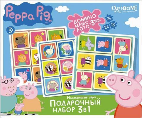Набор для игры ОРИГАМИ набор игр 3в1 Peppa Pig подарочный набор 3в1 фиксики 00384