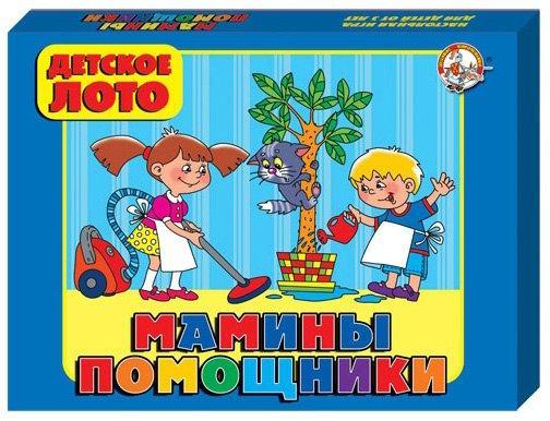 мамины помощники Настольная игра Десятое королевство лото Мамина помощница 00250