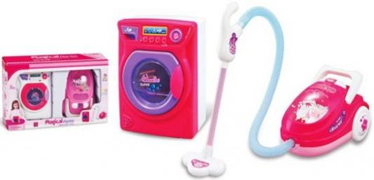 Набор Shantou Gepai Фэмили: стиральная машинка, пылесос со светом в ассортименте