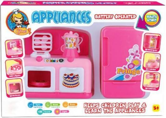 Набор кухонной техники Shantou Gepai Appliances - Кухня со звуком и светом Y3778177 shantou утюг розово белый со светом и звуком 948 gepai
