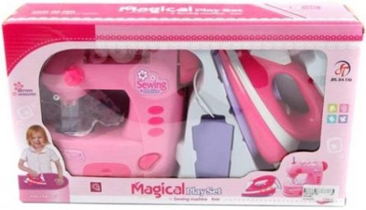 Набор бытовой техники Shantou Gepai Magical - швейная машина и утюг со светом 752ABC игра shantou gepai утюг pink white 948
