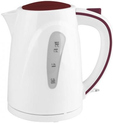 Чайник Supra KES-1721N 2200 Вт белый бордовый 1.7 л пластик
