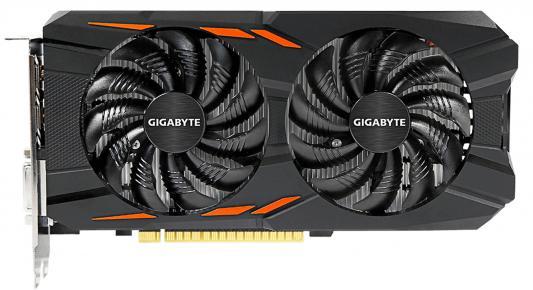 Видеокарта 4096Mb Gigabyte GeForce GTX1050 Ti PCI-E 128bit GDDR5 DVI HDMI DP GV-N105TWF2-4GD Retail видеокарта 4096mb asus geforce gtx1050 ti pci e 128bit gddr5 dvi hdmi dp hdcp strix gtx1050ti 4g gaming retail