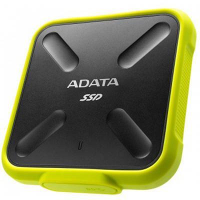 Внешний жесткий диск SSD USB3.0 256 Gb A-Data SD700 ASD700-256GU3-CYL черный/желтый