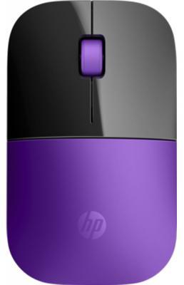 Мышь беспроводная HP Z3700 фиолетовый чёрный USB + радиоканал X7Q45AA мышь hp z3700 wireless cardinal red cons v0l82aa