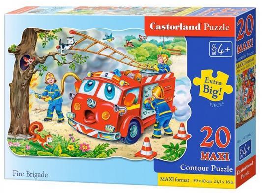 Пазл Кастор Пожарная машина 20 элементов пазл 60 элементов кастор три поросенка в 06106