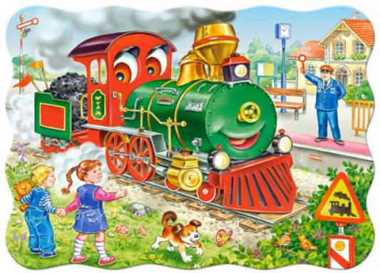 Купить Пазл Кастор Зеленый локомотив, Пазлы для малышей