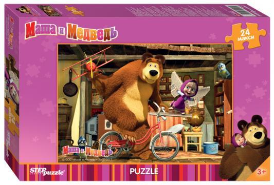 Купить Пазл 24 элемента Step Puzzle Маша и Медведь 90013, Пазлы для малышей