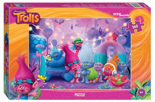 Пазл 360 элементов Step Puzzle Trolls 96048 пазл step puzzle 360 эл 500 345 тигренок