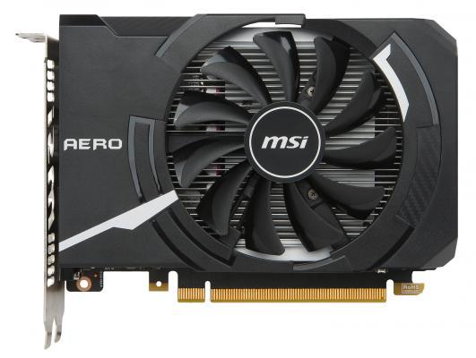 Видеокарта 4096Mb MSI GeForce GTX1050Ti PCI-E 128bit GDDR5 DVI HDMI DP HDCP GTX 1050 Ti AERO ITX 4G OC(V1) Retail asus radeon rx 460 1200mhz pci e 3 0 4096mb 7000mhz 128bit dvi hdmi dp hdcp strix rx460 4g gaming