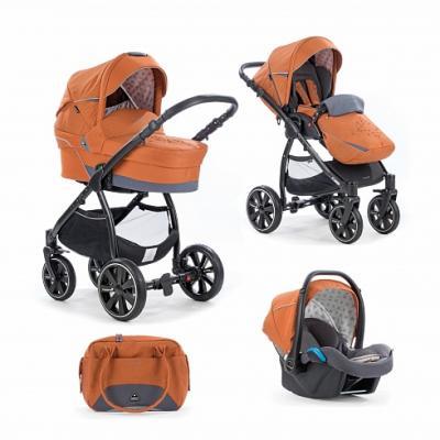 Коляска 3-в-1 Noordi Polaris Comfort (цвет pumpkin) коляска noordi noordi коляска 3 в 1 polaris comfort shadow