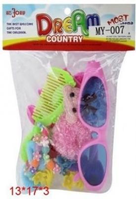 Игровой набор MSN TOYS Набор украшений с очками для девочек 5139130 игрушки для ванны tolo toys набор ведерок квадратные