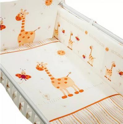 Постельный сет 7 предметов Перина Кроха (жирафики)