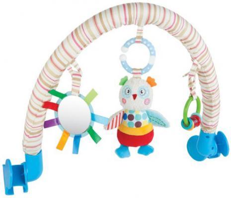 Развивающая игрушка Жирафики Дуга с погремушкой, зеркальцем и мягкой игрушкой Совёнок Бонни 939389 подвеска с вибрацией совёнок бонни