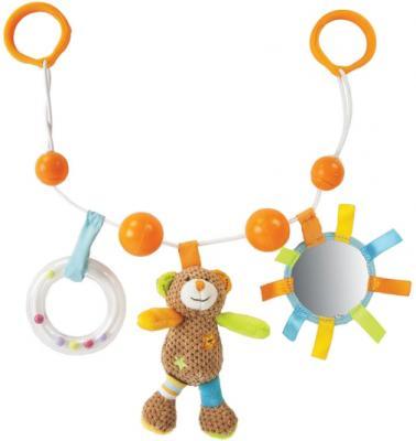 """Развивающая игрушка Жирафики подвеска с погремушкой, зеркальцем и мягкой игрушкой """"Мишка Вилли"""" 939384 игрушка развивающая паззл вертикальный мишка oops"""