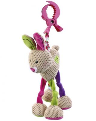 Развивающая игрушка Жирафики Подвеска с вибрацией Зайка Полли 93688 жирафики развивающая игрушка подвеска бабочка муз