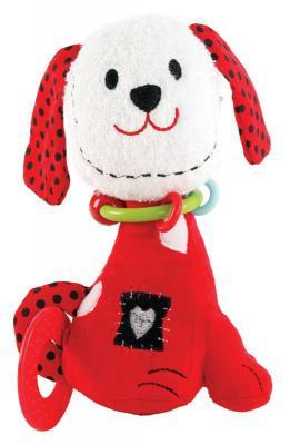 Погремушка-прорезыватель Жирафики Щенок Макс красный с 1 месяца погремушка щенок